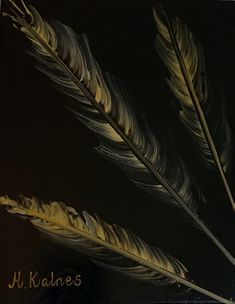 Feathers in gold